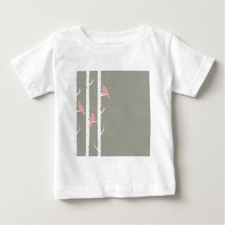Birds In Birch Trees Grey Baby T-Shirt