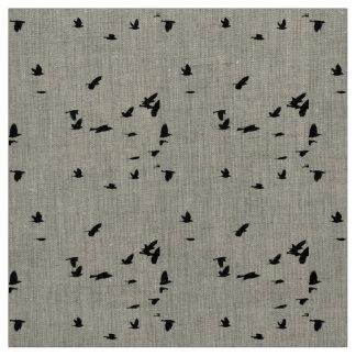 Birds in Flight Linen Fabric
