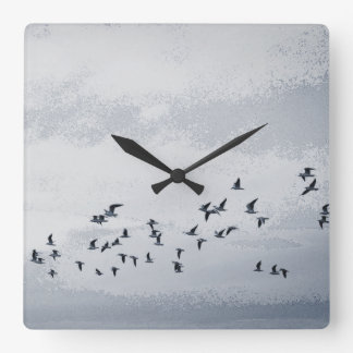Birds in Flight Square Wall Clock