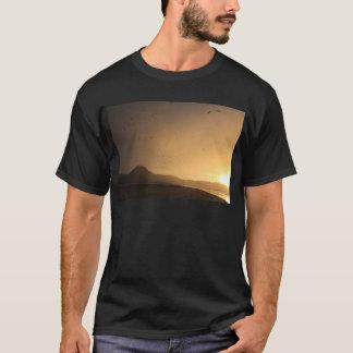 Birds in orange sunset sky Ninety Mile Beach T-Shirt