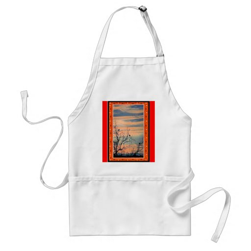Birds in the bushes 2 apron