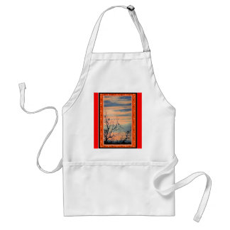 Birds in the bushes 2 standard apron