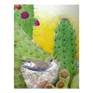 Birds in the desert custom letterhead