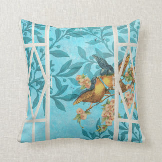 Birds in the Window Throw Pillow