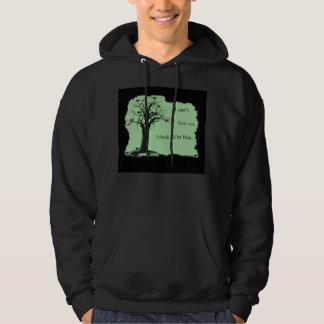 Birds in Tree - Mint Green - Hoodie Sweatshirt