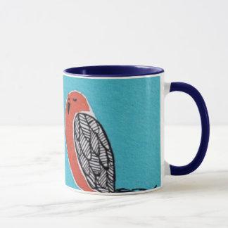 birds knitting mug