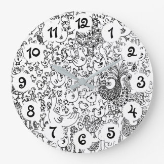 Birds Large Clock