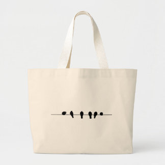 Birds Large Tote Bag