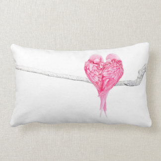 Birds Love Lumbar Pillow