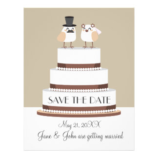 Birds Love Wedding Cake Custom Flyer
