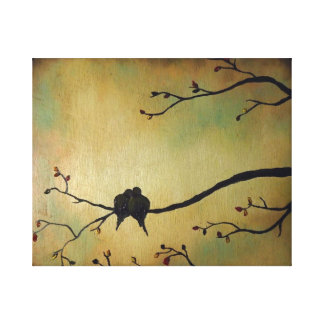 Birds lovers canvas print