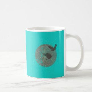 Birds & Moon Graphic Design Coffee Mug