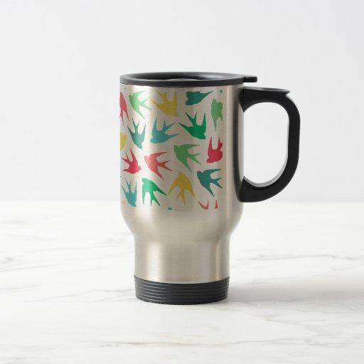 Birds Multicolor Coffee Mugs