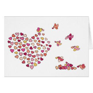 Birds n' Hearts Card