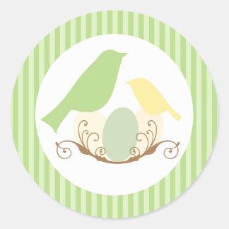 Birds Nest Baby Shower Envelope Seals