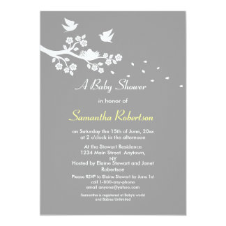 "Birds Nest Baby Shower Invitation 5"" X 7"" Invitation Card"