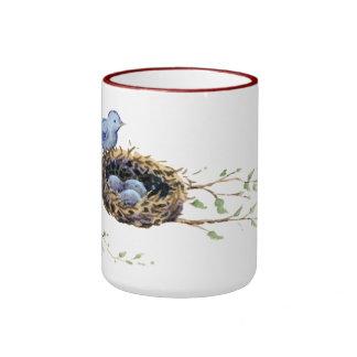 Bird's Nest Ringer Coffee Mug