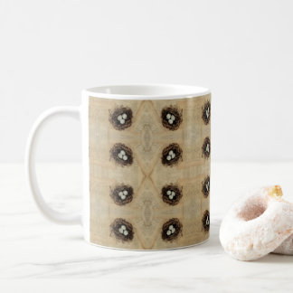 Bird's Nest With Eggs Modern Vintage Easter Coffee Mug