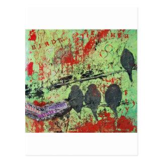 birds of a feather2.JPG Postcard
