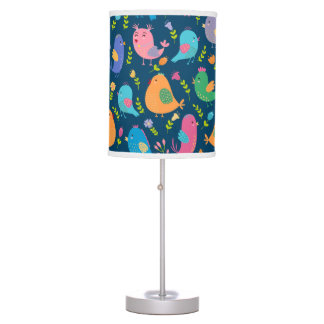 Bird's of a Feather Blue Table Lamp
