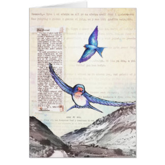 Birds of a Welsh Valley Card
