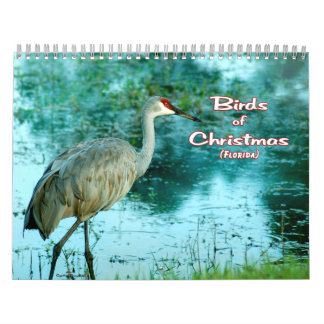 """Birds of Christmas Calendar"" colored pages Wall Calendar"