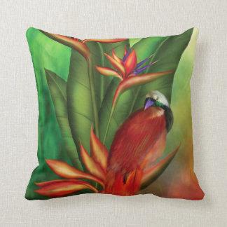 Birds Of Paradise Art Designer Pillow