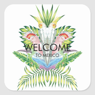 Birds of Paradise Wedding Welcome Sticker