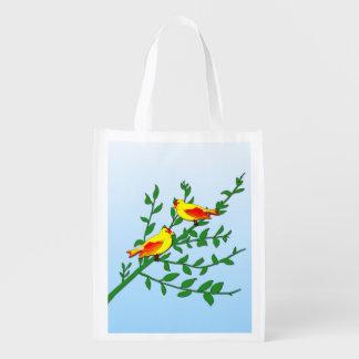 Birds of Peace Reusable Grocery Bag