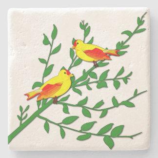 Birds of Peace Stone Coaster