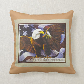 Birds of Peace Throw Pillow
