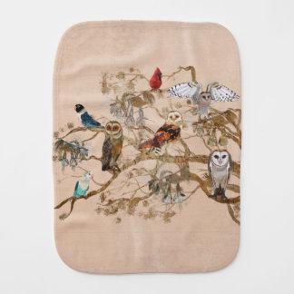 BIRDS OF THE SAME FEATHER TREE Burp Cloth
