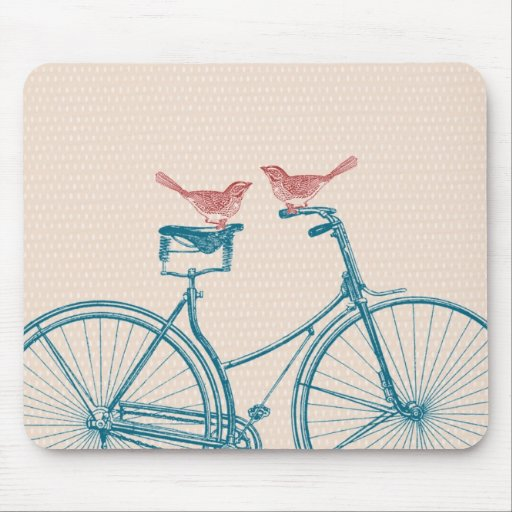 Birds on a Bicycle Mousemat