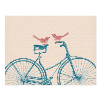 Birds on a Bicycle Postcard