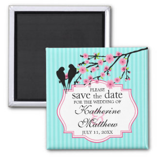Birds on a Cherry Blossom Branch Save The Date Magnet