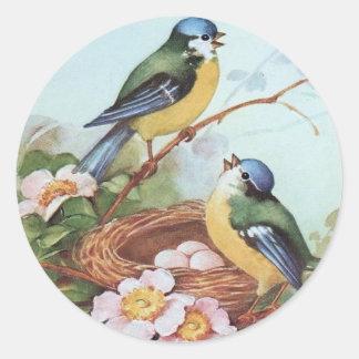 Birds on a Nest - Sticker