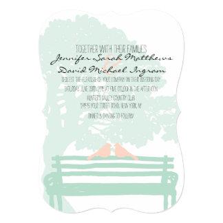 Birds on a Park Bench Wedding Invitations