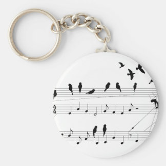 Birds on a Score keychain