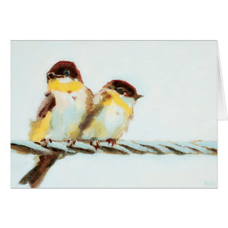 Birds on a Wire Customizable Card