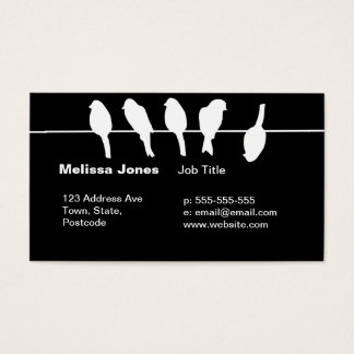 Birds on a wire – dare to be different (black) business card