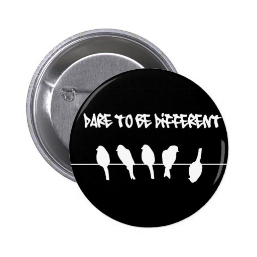 Birds on a wire – dare to be different (black) pin