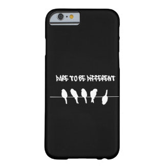 Birds on a wire – dare to be different (black) barely there iPhone 6 case