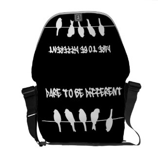 Birds on a wire – dare to be different (black) commuter bags