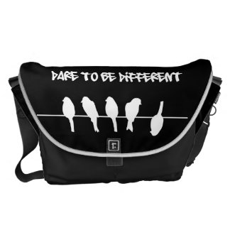 Birds on a wire – dare to be different (black) messenger bags