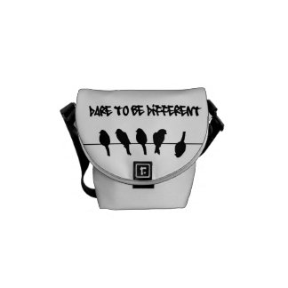 Birds on a wire – dare to be different courier bag