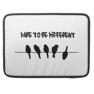 Birds on a wire - Dare to be Different Sleeve For MacBook Pro