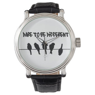 Birds on a wire – dare to be different wrist watches