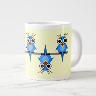 birds on a wire large coffee mug