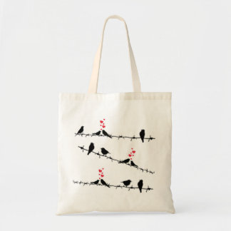 Birds on a wire shopping bag