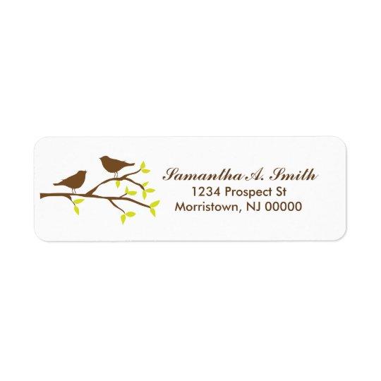 Birds on Branch Return Address Labels